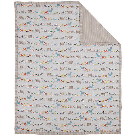Buy John Lewis Farmyard Cotbed Quilt Online at johnlewis.com