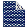 John Lewis Knitted Star Pram Blanket, Royal Blue