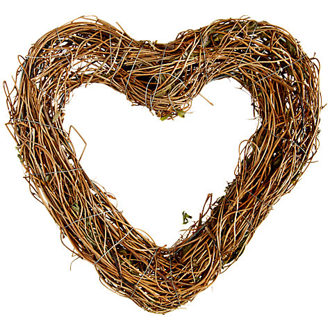 Buy John Lewis Clematis Heart Wreath, 21cm Online at johnlewis.com