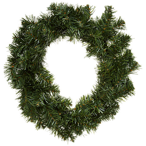 Buy John Lewis Round Pine Effect Wreath, 41cm Online at johnlewis.com