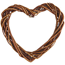 Buy John Lewis Heart Willow Wreath, 15cm Online at johnlewis.com