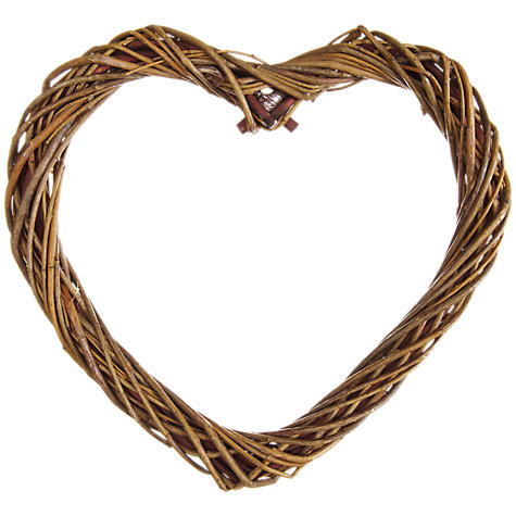 Buy John Lewis Heart Willow Wreath, 24cm Online at johnlewis.com