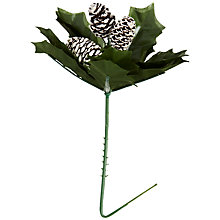 Buy John Lewis Holly Pick with Pine Cones, Multi Online at johnlewis.com