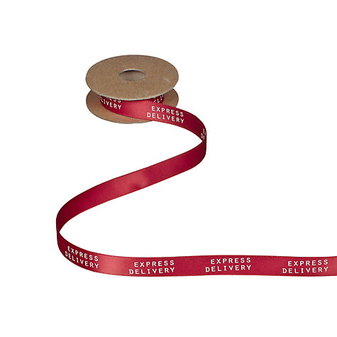Buy John Lewis Express Delivery Ribbon, 5m, Red Online at johnlewis.com