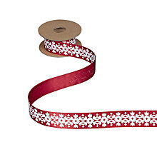 Buy John Lewis Snowflake Ribbon, 5m Online at johnlewis.com