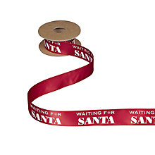Buy John Lewis Waiting for Santa Ribbon, 5m, Red Online at johnlewis.com