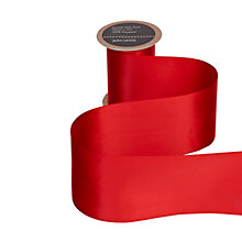 Buy John Lewis Wide Satin Ribbon, 75mm, Red Online at johnlewis.com