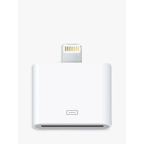 Buy Apple Lightning connection to 30 pin adapter Online at johnlewis.com
