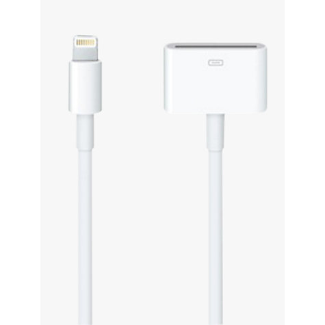 Buy Apple Lightning connection to 30 pin adapter cable Online at johnlewis.com
