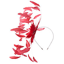 Buy John Lewis Emma Starburst Fascinator, Red Online at johnlewis.com