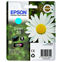Buy Epson 18 Cyan Ink Cartridge Online at johnlewis.com