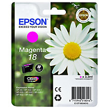 Buy Epson 18 Daisy Magenta Ink Cartridge Online at johnlewis.com