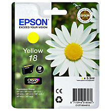 Buy Epson 18 Yellow Ink Cartridge Online at johnlewis.com