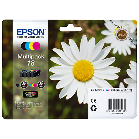 Buy Epson 18 Daisy Multipack Ink Cartridges Online at johnlewis.com