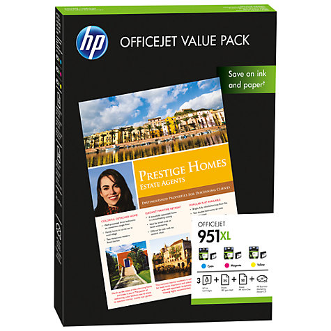 Buy HP 951XL Cartridge and Paper Value Pack Online at johnlewis.com
