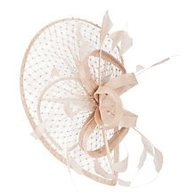 Buy Snoxells Myhat Lucy Diamanté Tear Drop Fascinator, Nude Online at johnlewis.com