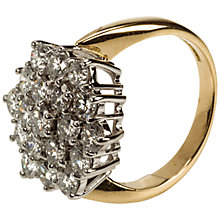 Buy Mitch Preston 18ct Yellow Gold Hexagonal Diamond Cluster Ring Online at johnlewis.com