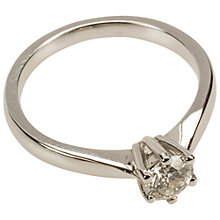 Buy Mitch Preston 18ct White Gold 0.50ct Single Diamond Ring Online at johnlewis.com