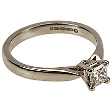 Buy Mitch Preston 18ct White Gold Princess Cut 0.32ct Diamond Ring, J Online at johnlewis.com