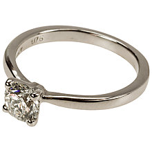 Buy Mitch Preston White Gold Single Briliant Cut 0.76ct Diamond Ring, M Online at johnlewis.com