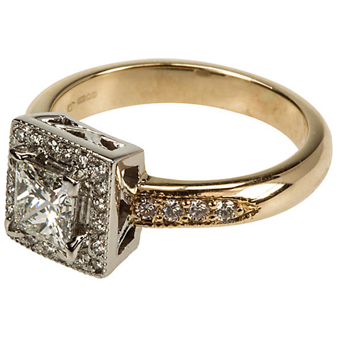 Buy Mitch Preston 21 Diamond Cluster Princess Cut Diamond 0.71ct Ring, L½ Online at johnlewis.com