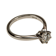 Buy Mitch Preston 18ct White Gold 0.78ct Single Diamond Ring Online at johnlewis.com