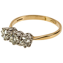 Buy Mitch Preston 18ct Yellow & White Gold 3 Stone Diamond 0.94 Ring, P Online at johnlewis.com