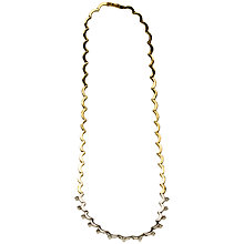 Buy Mitch Preston 18ct Yellow Gold 13 Diamond Cresent Style Collarette Necklace Online at johnlewis.com