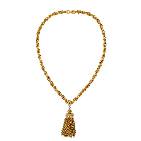 Buy Susan Caplan Vintage 1980s Monet Golden Tassel Necklace, Gold Online at johnlewis.com