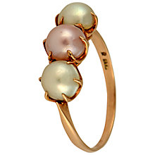 Buy Sharon Mills Triple Mikimoto Pearl 9ct Gold Ring Online at johnlewis.com