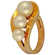Buy Sharon Mills Triple Pearl 9ct Yellow Gold Ring Online at johnlewis.com