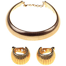 Buy Alice Joseph Vintage 1980s Christian Dior Gilt Collar Necklace & Clip-On Earrings Set Online at johnlewis.com