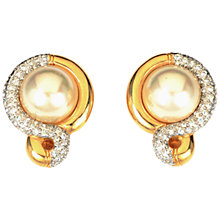 Buy Alice Joseph Vintage 1980s Vogue Bijoux Pearl and Diamante Clip Earrings, Gold Online at johnlewis.com