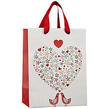 Buy John Lewis Valentine's Day Birds Gift Bag, Small Online at johnlewis.com