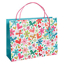 Buy Belly Button Piccadilly Flowers Shopper Gift Bag, Multi Online at johnlewis.com