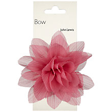 Buy John Lewis Flower Bow Decoration, Pink Online at johnlewis.com