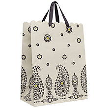 Buy John Lewis Paisley Gift Bag, White, Medium Online at johnlewis.com