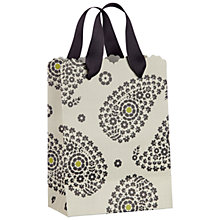 Buy John Lewis Paisley Gift Bag, White, Mini Online at johnlewis.com