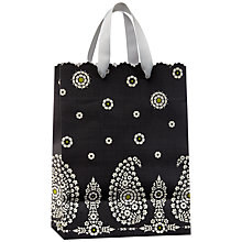 Buy John Lewis Paisley Gift Bag, Black, Small Online at johnlewis.com