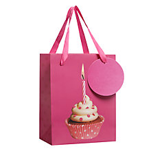 Buy John Lewis Photo Cupcake Gift Bag, Multi, Mini Online at johnlewis.com