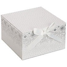 Buy John Lewis Wedding Lace Gift Box, White, Medium Online at johnlewis.com
