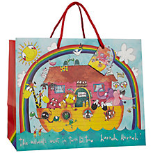 Buy Rachel Ellen Designs Animals Noah's Ark Gift Bag, Multi, Medium Online at johnlewis.com