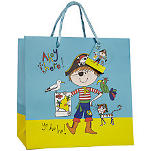 Buy Rachel Ellen Designs Pirate Gift Bag, Multi, Medium Online at johnlewis.com