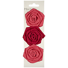 Buy John Lewis Mini Paper Flower Bows, Pink, Pack of 3 Online at johnlewis.com