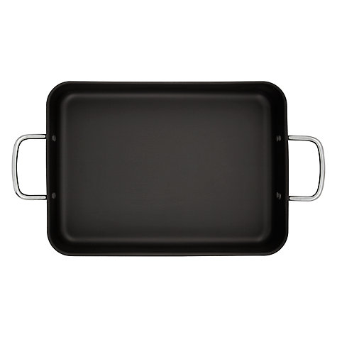 Buy Mermaid Hard Anodised Deep Roaster with Handles Online at johnlewis.com