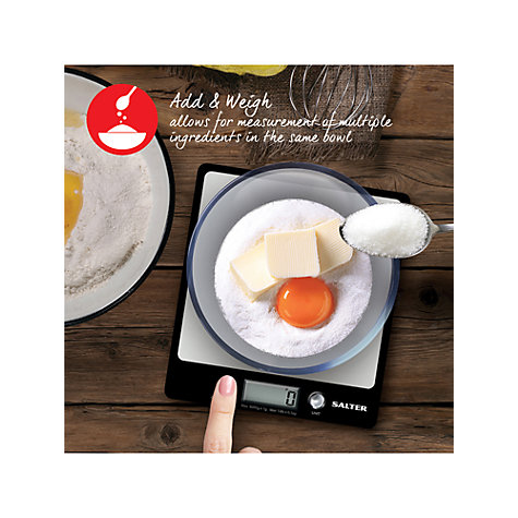 Buy Salter Aquatronic Platform Kitchen Scales, 6kg Online at johnlewis.com