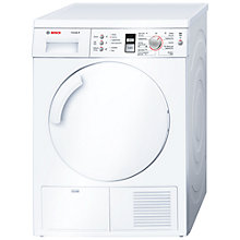 Buy Bosch WTE84305GB Sensor Condenser Tumble Dryer, 8kg Load, B Energy Rating, White Online at johnlewis.com