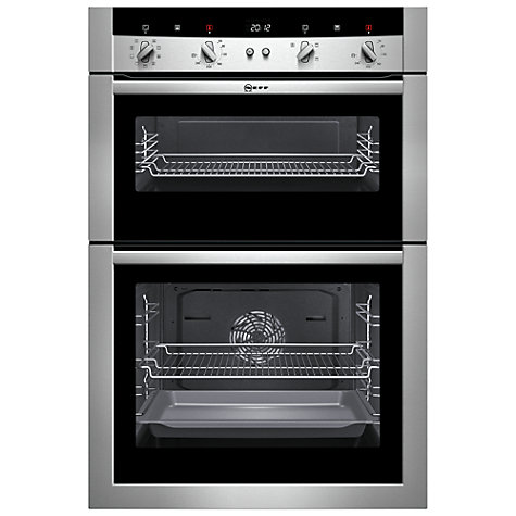 Buy Neff U15M52N3GB Double Electric Oven, Stainless Steel Online at johnlewis.com