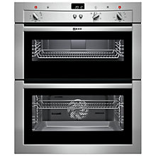 Buy Neff U17S32N3GB Double Built-Under Electric Oven, Stainless Steel Online at johnlewis.com