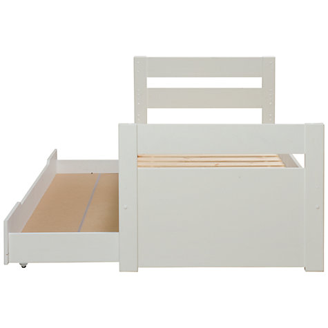 Buy Stompa Uno Plus Truckle Bed, White Online at johnlewis.com